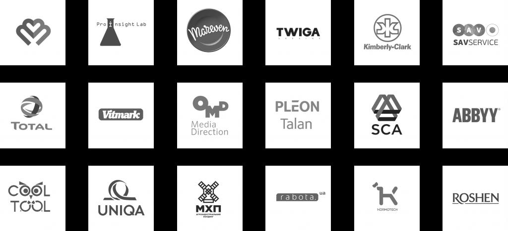 Логотипы партнеров агенста маркетинговых исследований Digdata